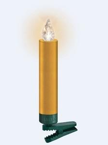 Lumix Weihnachtsbaumkerzen Premium mini ,  6 Kerzen, Erweiterung, gold