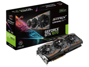 ASUS GeForce® GTX 1070 ROG Strix OC 8GB Gaming (NVIDIA, Grafikkarte)