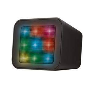 Trust Dixxo Cube Wireless Bluetooth Speaker mit LED-Lichtshow