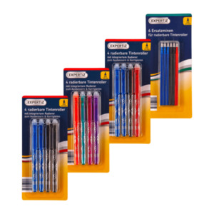 EXPERTIZ     Radierbare Tintenroller / Ersatzminen