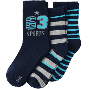 3 Paar Jungen Socken mit Motiv