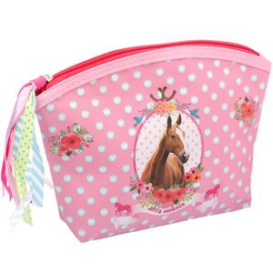 Mädchen Kosmetiktasche mit Pferde-Motiv