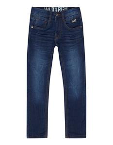 Jungen Stone Washed Slim Fit Jeans mit Aufnäher