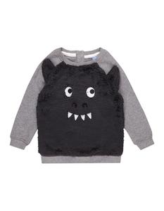 Baby Sweatshirt mit Teddybesatz