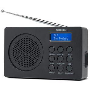 MEDION LIFE® E66320 DAB+ Radio, Digitale Radiosender in brillanter Tonqualität, Netz- oder Batteriebetrieb (B-Ware)