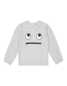 Baby Pullover mit Reiverschlusstasche und Stickerei