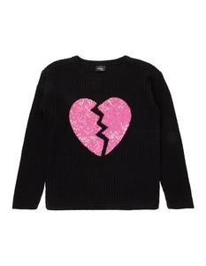 MŠdchen Pullover mit Herz aus Pailletten