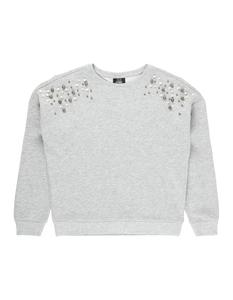 MŠdchen Sweatshirt mit Zierperlenbesatz