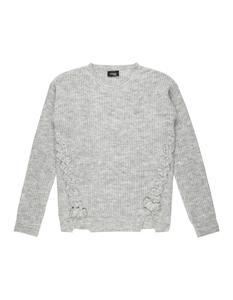 MŠdchen Pullover mit Zopfdetails