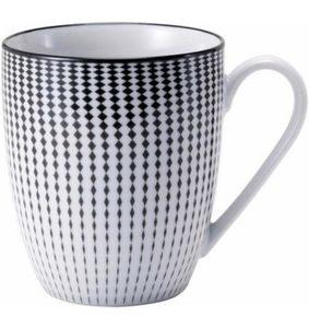 Van Well Kaffeebecher, Porzellan, 6 Stück, »Black Circle«