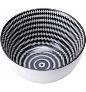 Van Well Müslischalen, Porzellan, 6 Stück, »Black Circle«