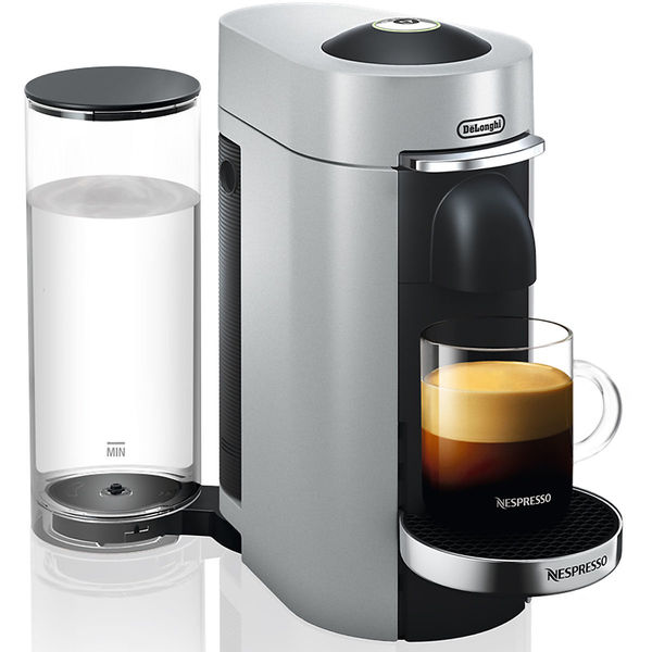 DeLonghi Nespresso-Automat VertuoPlus ENV155.S, silber