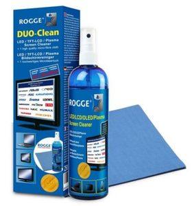 Rogge Duo Clean - 250ml Bildschirmreiniger mit Mikrofasertuch