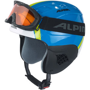 ALPINA Kinder Skihelm/-brille Set CARAT