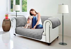 Wendeschutzdecke 2in1, 2er Couch grau