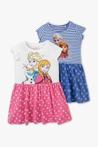 Disney Girls         Die Eiskönigin - Kleid - Bio-Baumwolle - 2 teilig