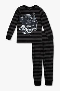 Star Wars - Pyjama - Bio-Baumwolle - 2 teilig - gestreift