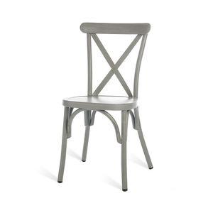 Stuhl Aluminium, 44x50x86cm, grau