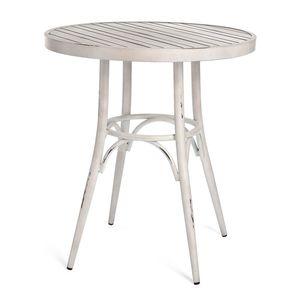 Tisch Aluminium, D:70cm x H:75cm, creme