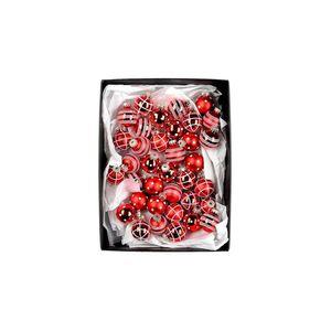 Kugeln handbemalt, D:3cm, rot (Variante nicht frei wählbar)