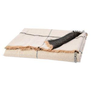Decke Karo, L:170cm x B:130cm, creme