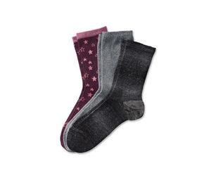 3 Paar Glitzer-Socken