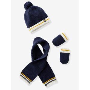 VERTBAUDET   Mütze Schal und Fäustlinge Baby Jungen marine
