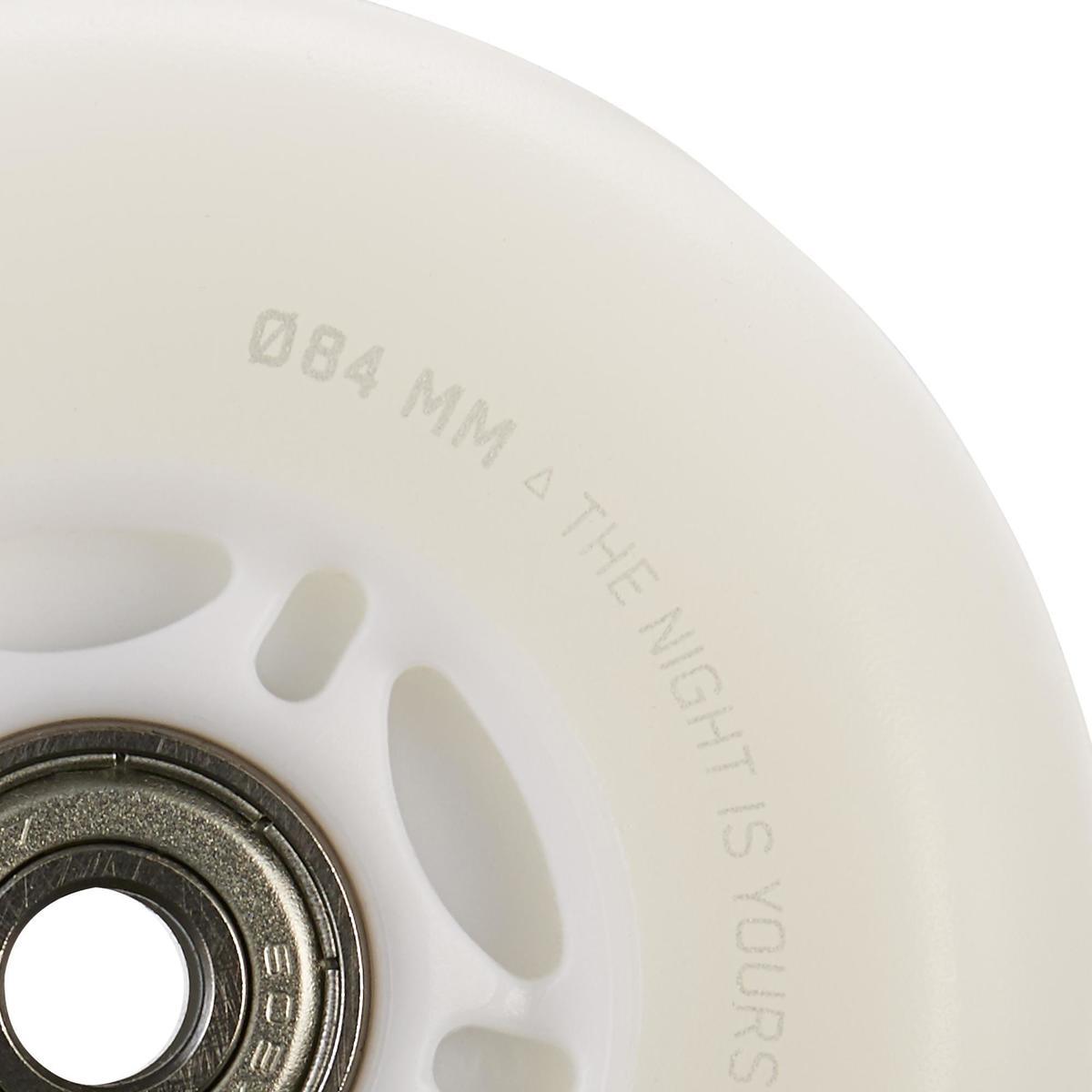 Bild 4 von Inliner-Leuchtrollen 84 mm 82A und Kugellager weiß/blau leuchtend 2er-Set