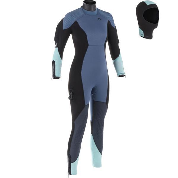 Neoprenanzug Halbtrocken SCD 500 Tauchen 7 mm für kalte Gewässer Damen