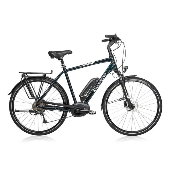 E-Bike 28 Trekkingrad Riverside 500 Herren Performance Line 400Wh grün