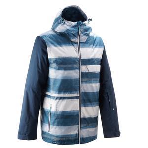 Snowboardjacke SNB JKT 100 Herren Print blau