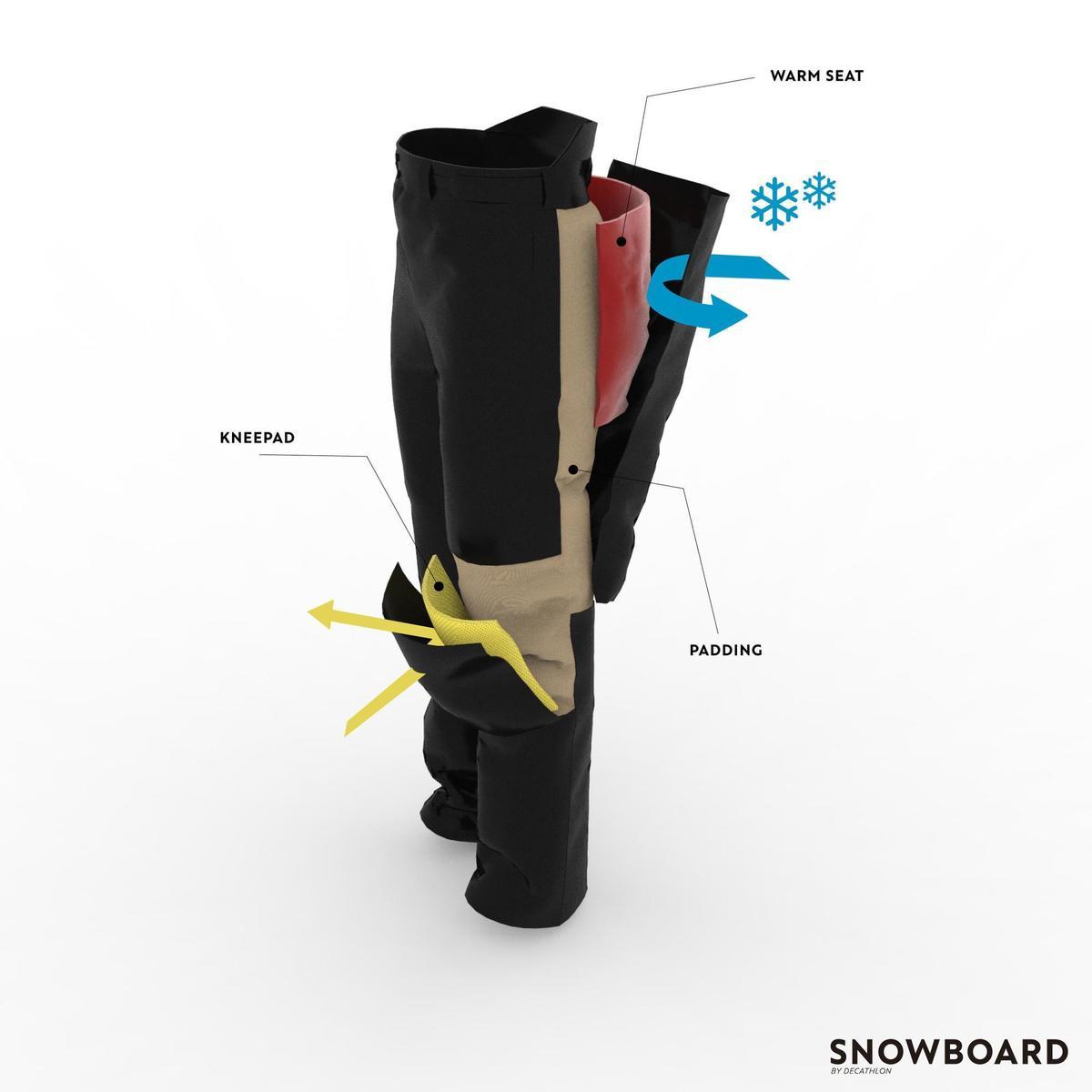 Bild 3 von Snowboardhose 500 Damen Camo/schwarz