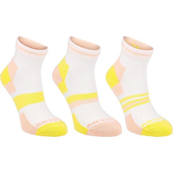 Tennissocken RS 160 Mid Kinder 3er Pack rosa/gelb