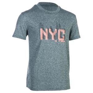 Basketballshirt Fast Jungen/Mädchen Fortgeschrittene blau/grau NYC