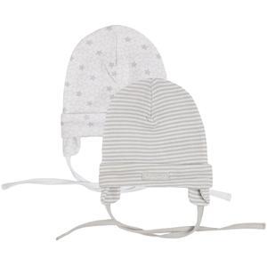 Baby Mütze zum Binden 2er Pack