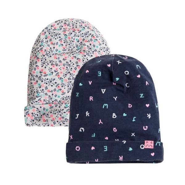 Baby Mütze 2er Pack für Mädchen
