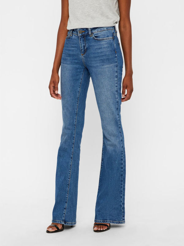 NORMAL WAIST FLARED JEANS
