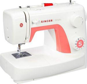 Singer Nähmaschine Simple 3210, 10 Programme, 10 Nähprogramme inkl. Knopfloch- und 3 Dekorationsstiche