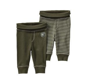 Liegelind Baby-Jungen-Hose mit Komfort-Bund, 2er Pack
