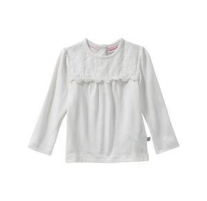 Liegelind Baby-Mädchen-Shirt mit Spitzenverzierung