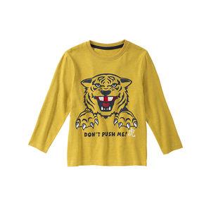 Kids Jungen-Shirt mit Tiger-Frontaufdruck