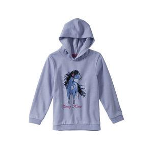 Kids Mädchen-Sweatshirt mit Pferde-Frontaufdruck