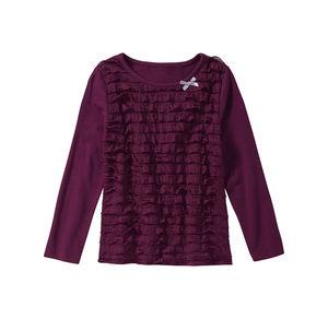 Kids Mädchen-Shirt mit hübschen Rüschen