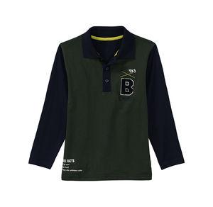 Kids Jungen-Poloshirt mit Buchstaben-Applikation
