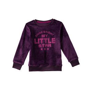 Kids Mädchen-Shirt in Samt-Optik
