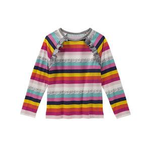 Kids Mädchen-Shirt mit schrägen Rüschen