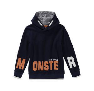 Kids Jungen-Kapuzenshirt mit Monster-Aufdruck