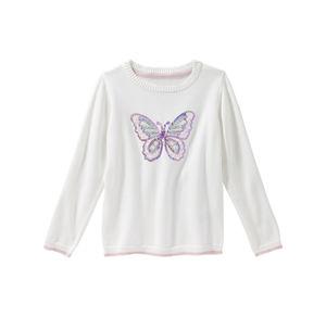 Kids Mädchen-Pullover mit Pailletten
