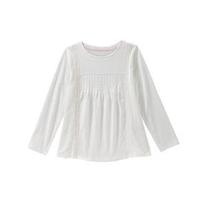 Kids Mädchen-Shirt mit Spitze und Falten