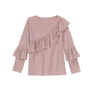 Kids Mädchen-Shirt mit schräger Rüsche